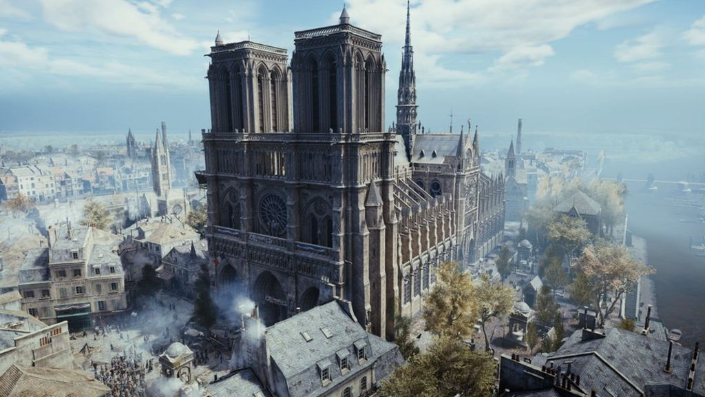 Take a trip around Ubisoft's virtual recreation of Notre-Dame without VR