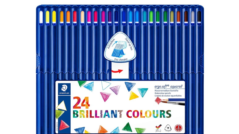 Watercolour Pencils: set of Staedtler Ergosoft Aquarell 156 SB24 Triangular pencils