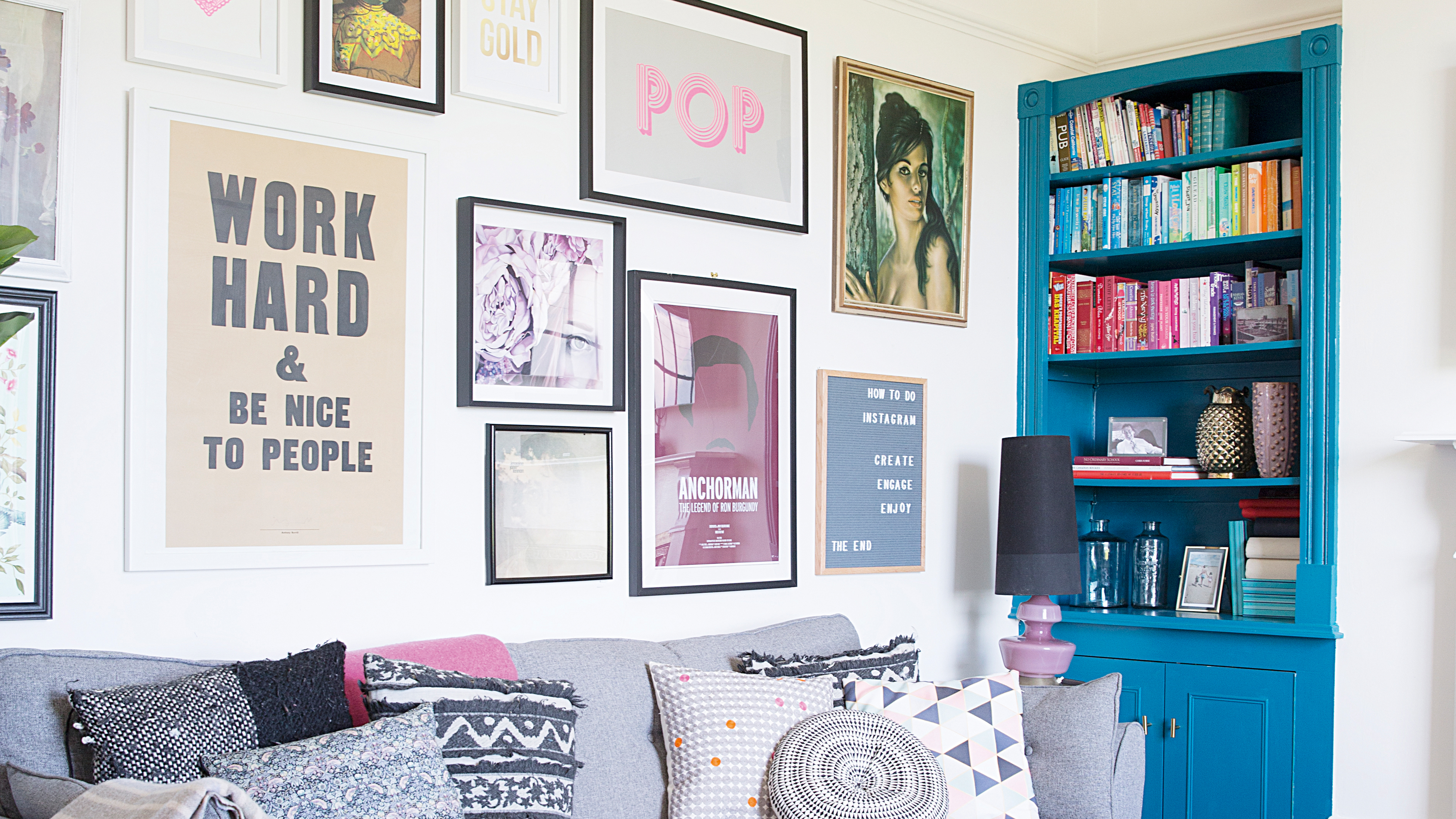 How To Display Photos 11 Inspiring Ideas For Displaying Pictures On Walls Real Homes