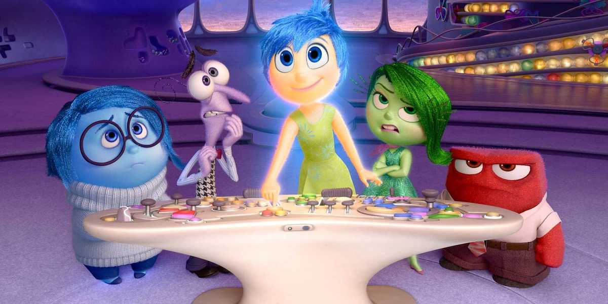 Riley's emotions taking control in Inside Out