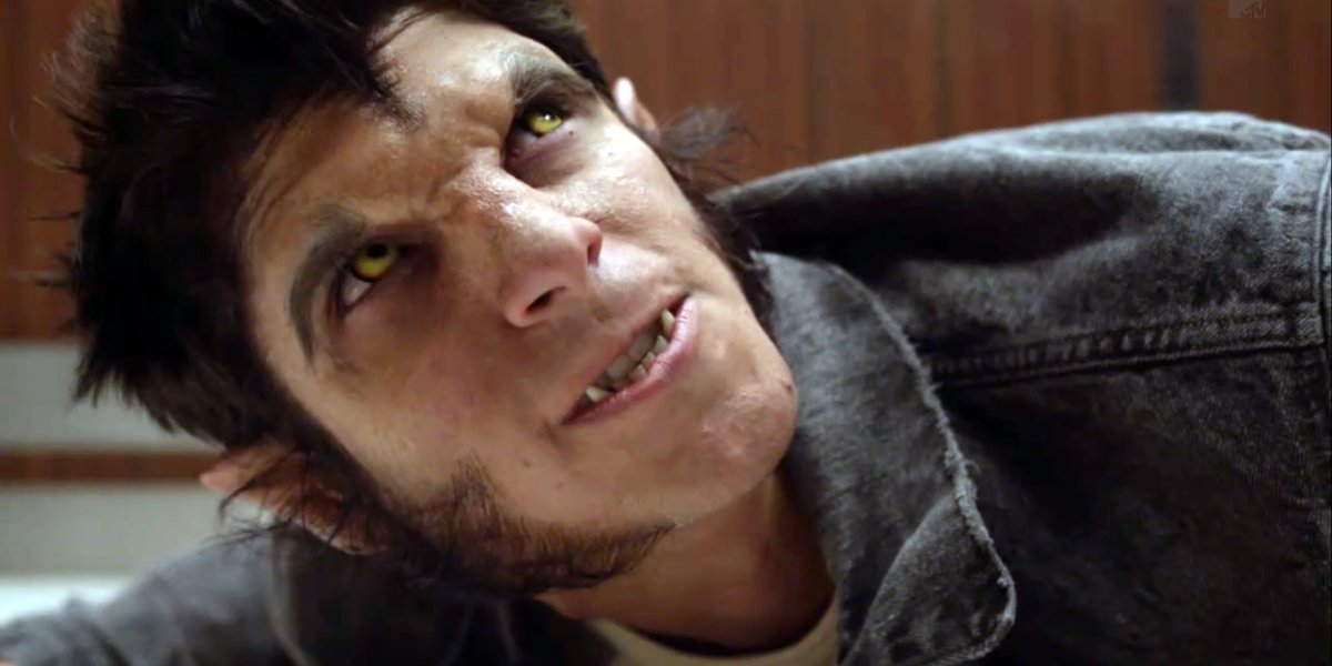 Scott as a werewolf in Teen Wolf.