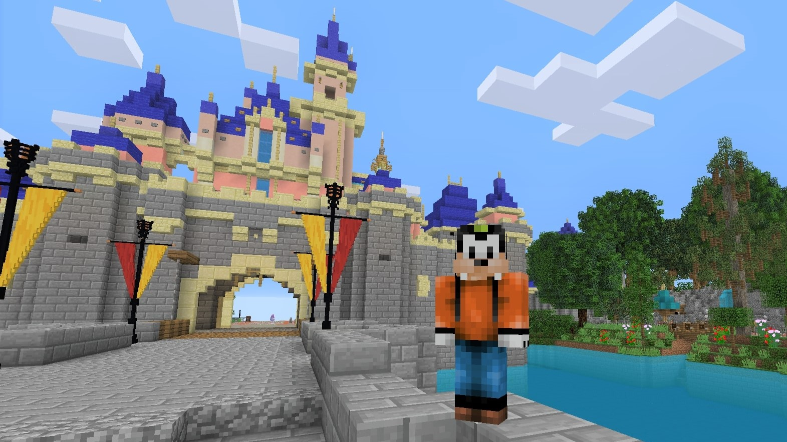 I visited Minecraft's most realistic Disneyland park