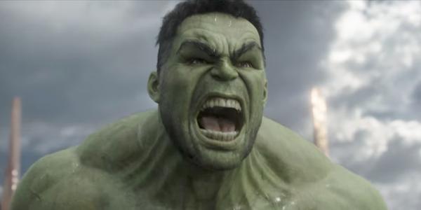 The Hulk roaring