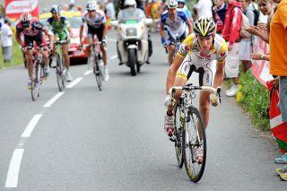 Cycling : Tour de France / Stage 10 RICCO Riccardo (Ita) / SASTRE Carlos (Esp) / EVANS Cadel (Aus) / NIBALI Vincenzo (Sui) / VANDEVELDE VANDE VELDE Christian (Usa) / Pau - Hautacam (156 Km) / Ronde van Frankrijk / TDF / Etape Rit / (c)Tim De Waele