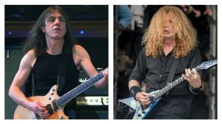 Malcolm Young and Dave Mustaine