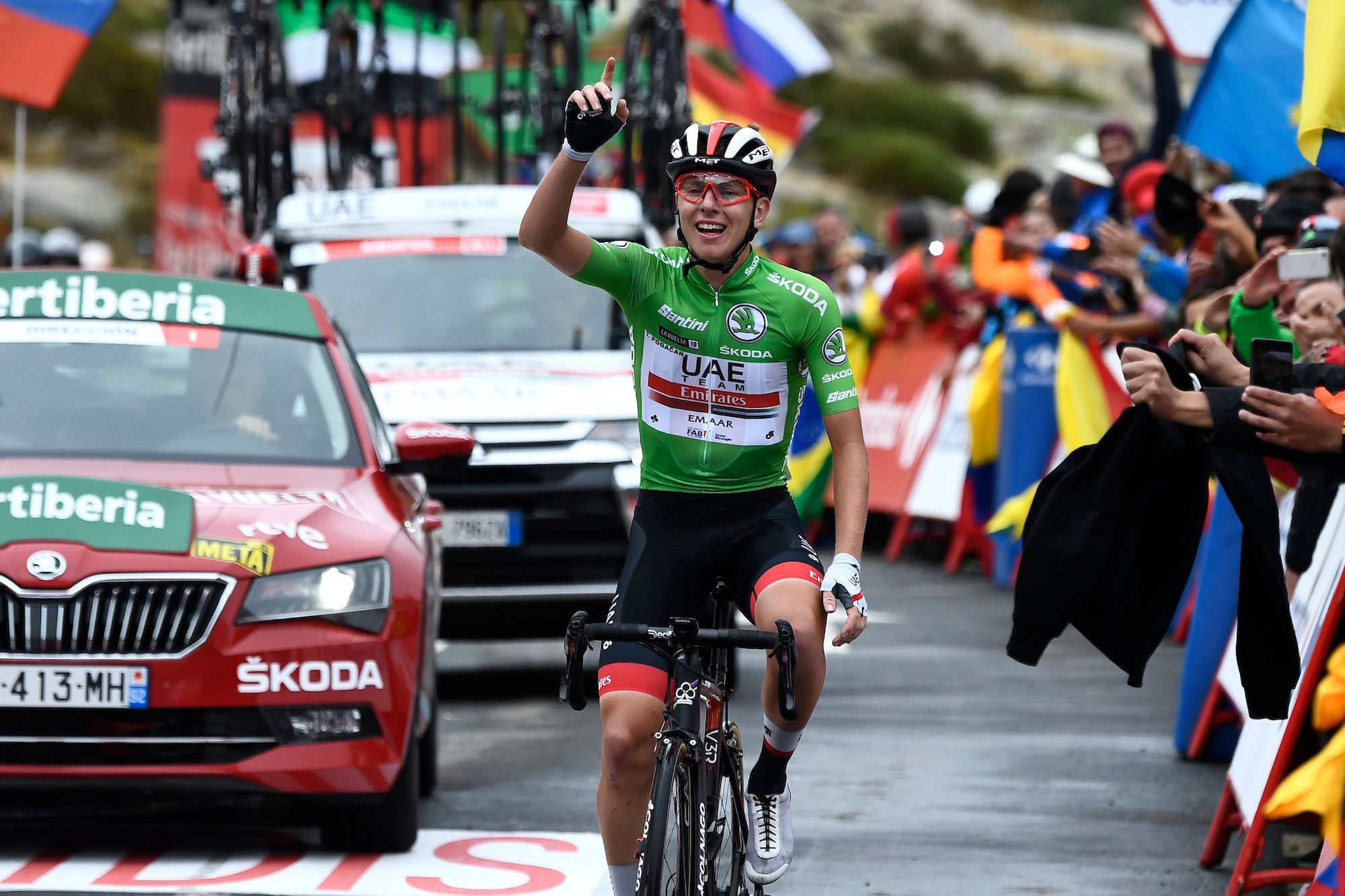 Tadej Pogačar solos to remarkable stage 20 victory as he seals Vuelta a España podium
