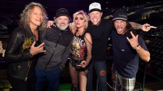Metallica with Lady Gaga at this year's Grammys