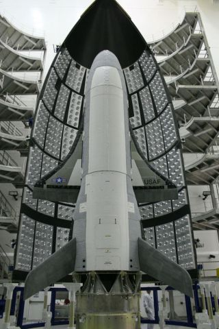 The Unites States' Air Force X-37B space plane, aka Orbital Test Vehicle. The space plane is ready for its debut launch in 2010.