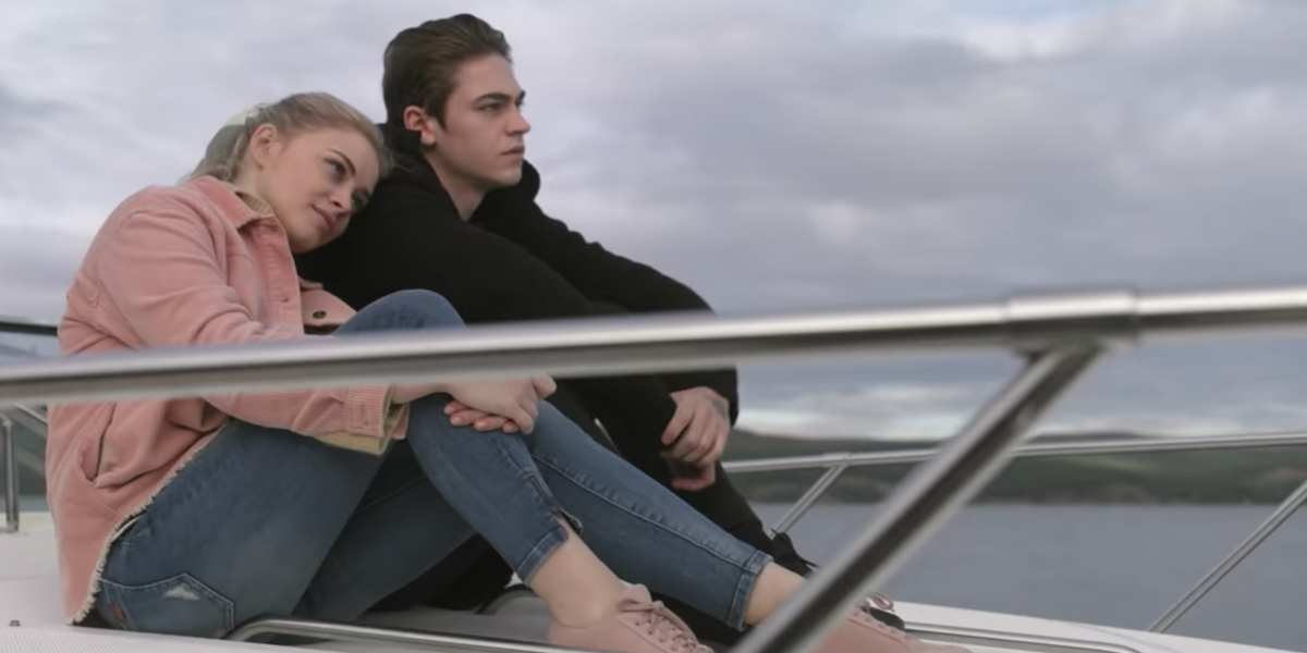 Tessa and Hardin on a boat in After We Fell trailer