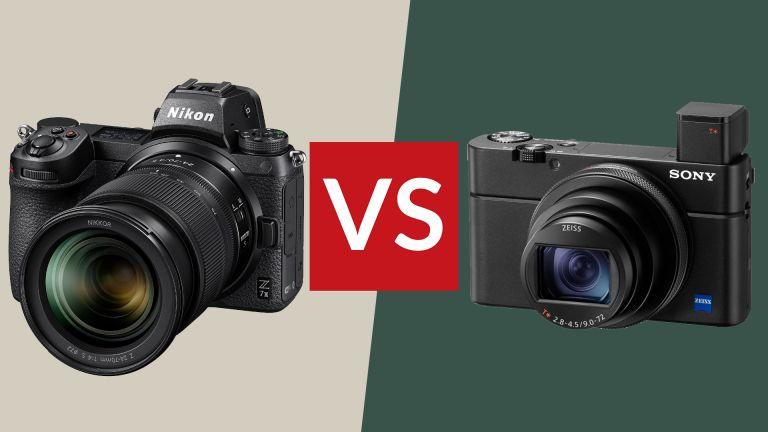 Compact camera vs mirrorless camera