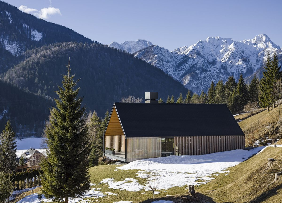 This modern take on an alpine chalet breaks the rules of tradition