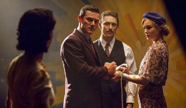 Professor Marston and the Wonder Women Luke Evans tying up a lady