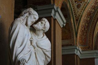 Judas kissing Jesus