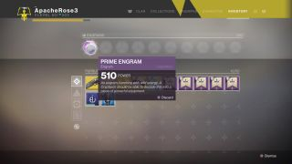 Destiny 2 Prime Engrams