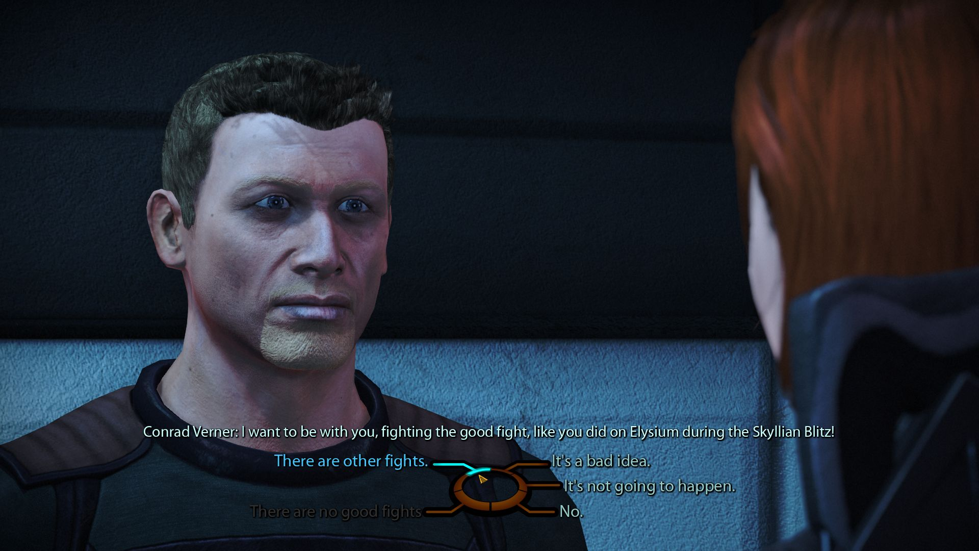 Conrad Verner in Mass Effect 1