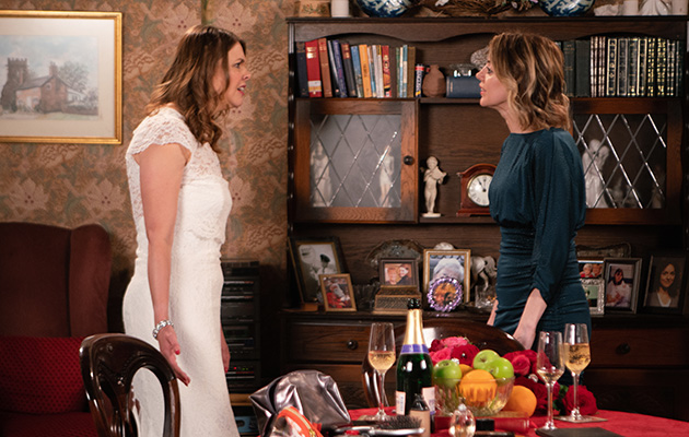 Tracy Barlow and Abi in Coronation Street
