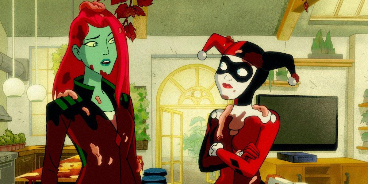 Poison Ivy and Harley Quinn on Harley Quinn