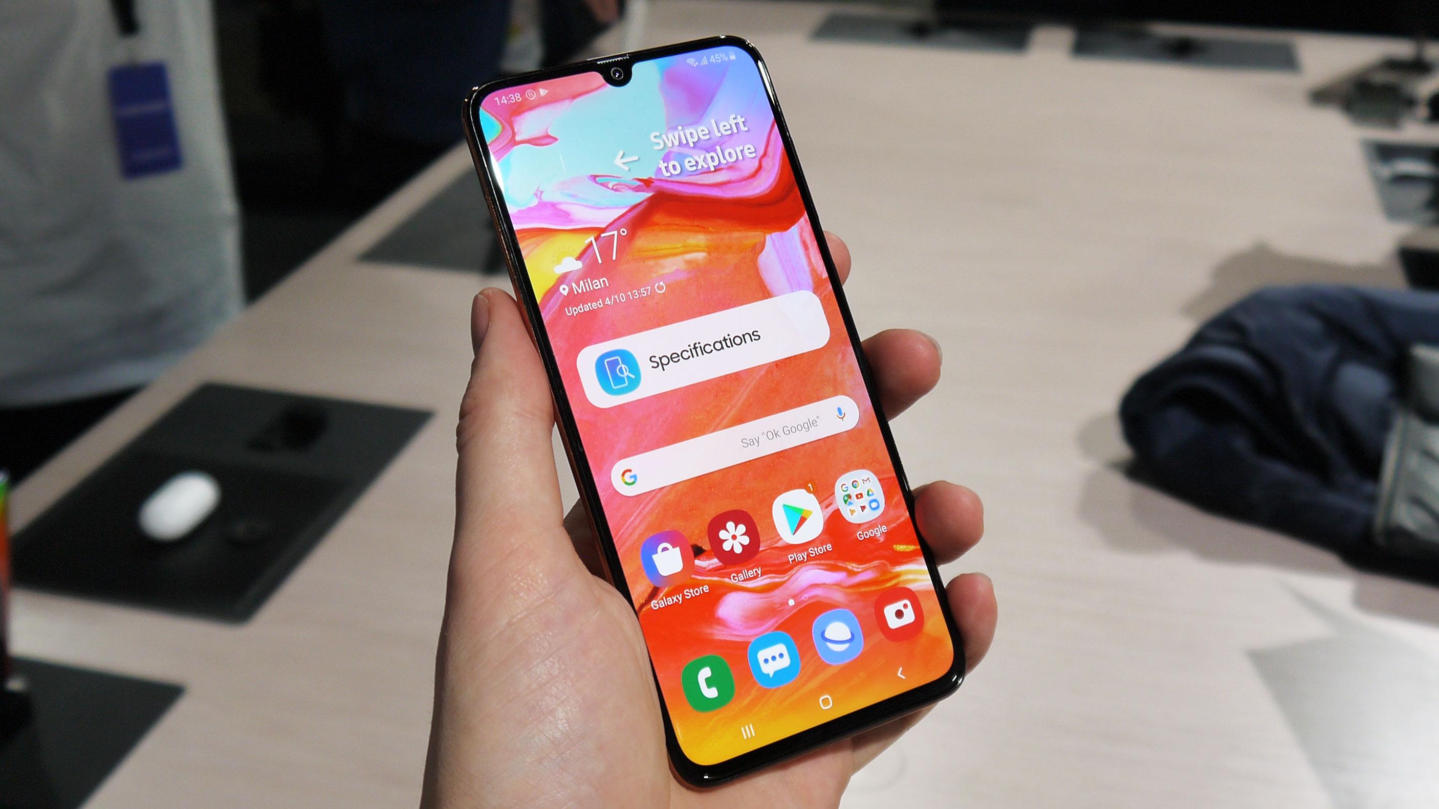 Hands On Samsung Galaxy A70 Review Techradar