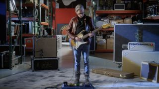 Mike McCready with his new signature Fender Custom Shop guitar