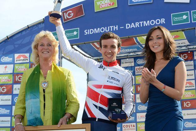 Simon Yates, stage winner, Tour of Britain 2013, stage six