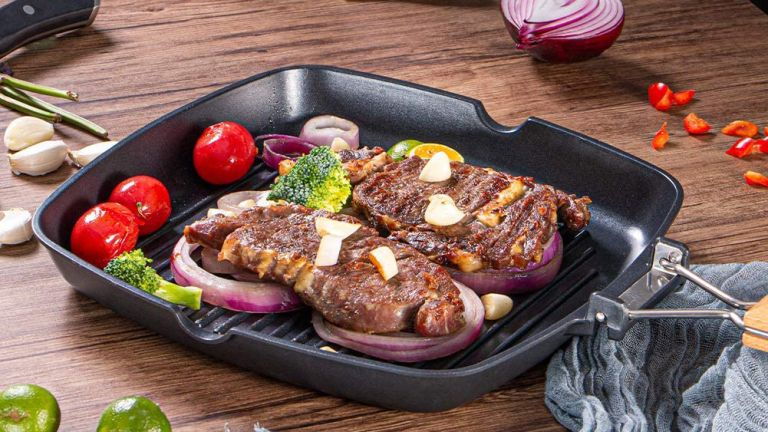 Best induction pan: SKY LIGHT Grill pan Induction 28 cm