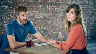 From left: Chris O'Dowd as Tom and Rosamund Pike as Louise in SundanceTV's 'State of the Union'