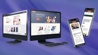 Screens displaying Bizplan
