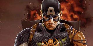 Captain America wearing Hydra insignia