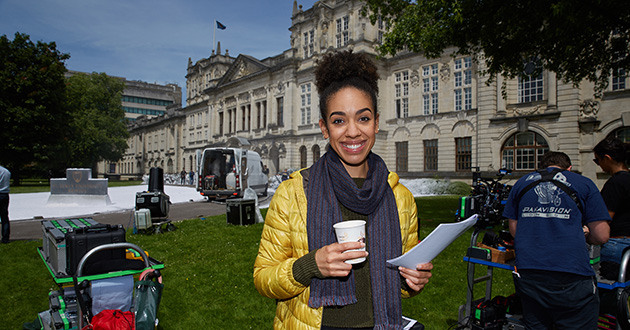 Pearl Mackie on her first day filming Doctor Who