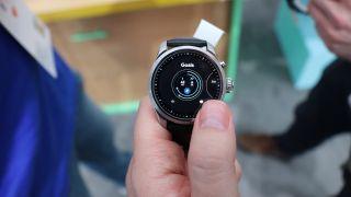 A smartwatch running Wear OS
