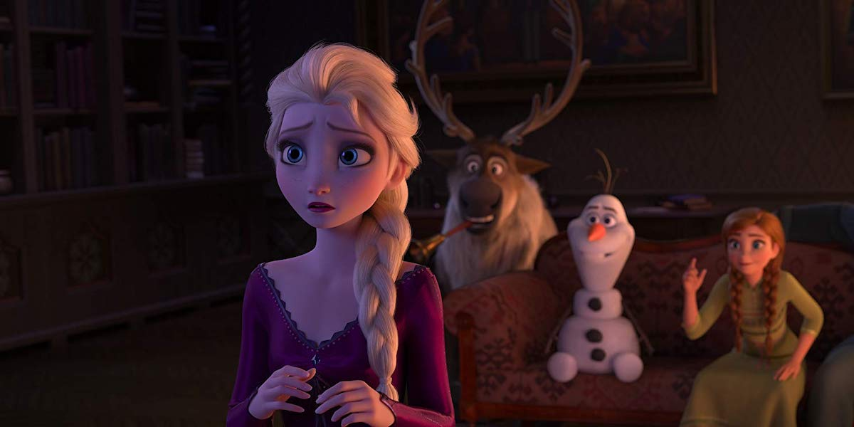 Elsa, Sven, Olaf and Anna in Frozen II