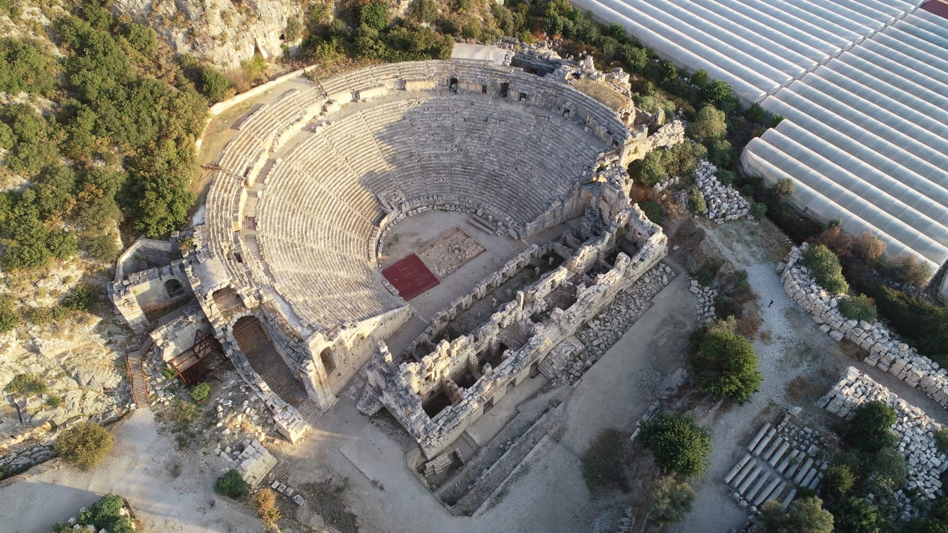 The figurines were discovered in a Hellenistic theater buried beneath the famous ancient Myra theatre in southwestern Turkey.