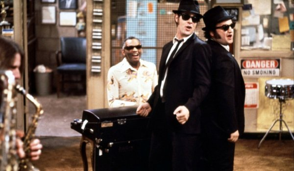 Blues Brothers song and dance in Ray Charles' pawn shop
