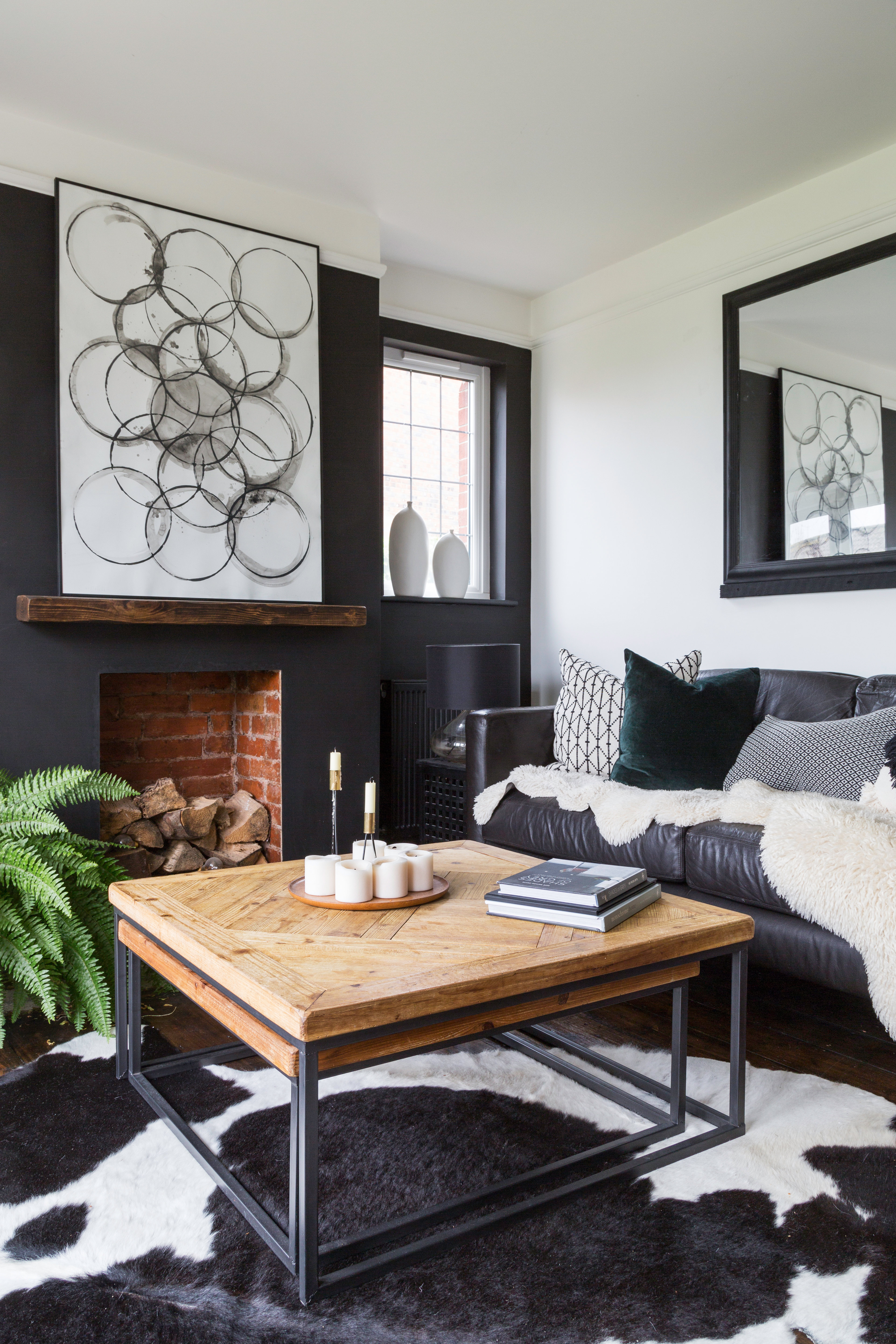16 Black Living Room Ideas To Tempt You Over The Dark Side Real Homes