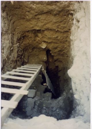 Ladder into latrine in Jerusalem