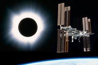 solar eclipse space station astronauts