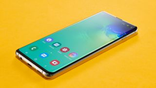 The S10 (above) likely has a slightly smaller screen than the S20