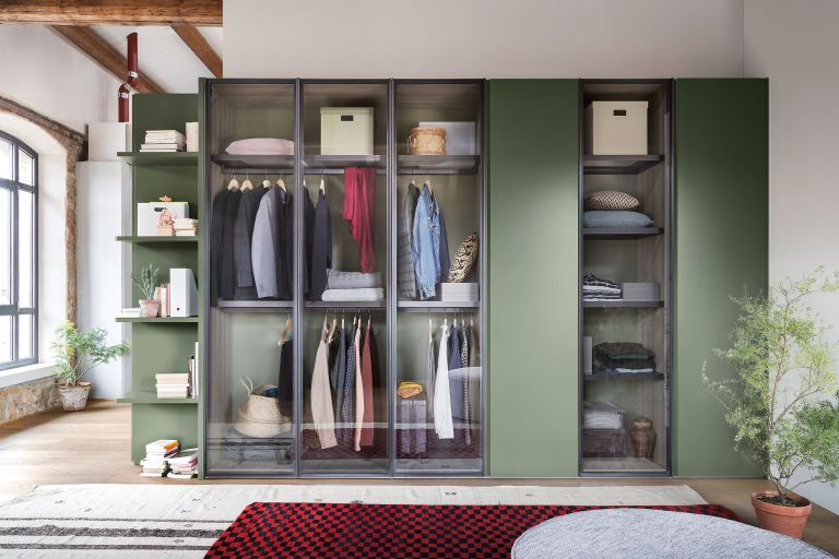 green built in wardrobe