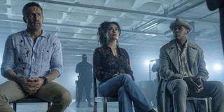 Ryan Reynolds, Salma Hayek and Samuel L. Jackson in The Hitman's Wife's Bodyguard