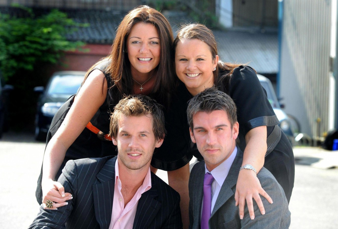 Lee McQueen (bottom right) with finalists Helene Speight, Claire Young and Alex Wotherspoon from Series 4 of The Apprentice
