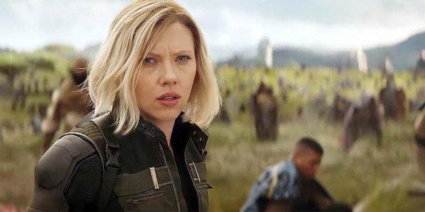 Scarlett Johansson as Black Widow in Avengers: Infinity War