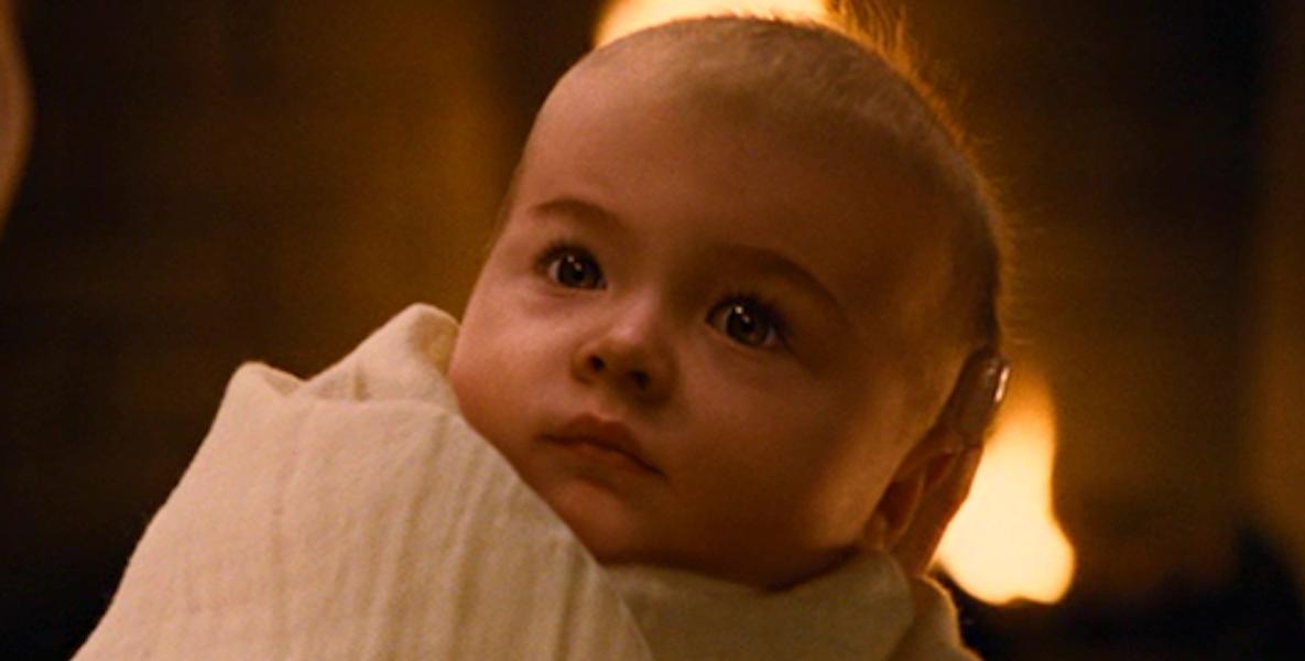 Renesmee as a baby in Breaking Dawn Part 1