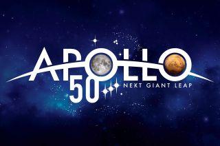 nasa apollo 50th anniversary logo