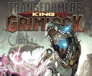 Grimlock, the Autobot T-rex Transformer, will star in his own sci-fi fantasy miniseries from IDW in summer 2021.