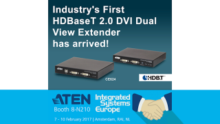 ATEN Launches HDBaseT 2.0 DVI Dual View Extender