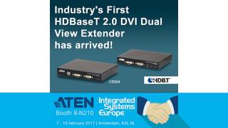 ATEN Launches HDBaseT 2.0 DVI Dual View Extender