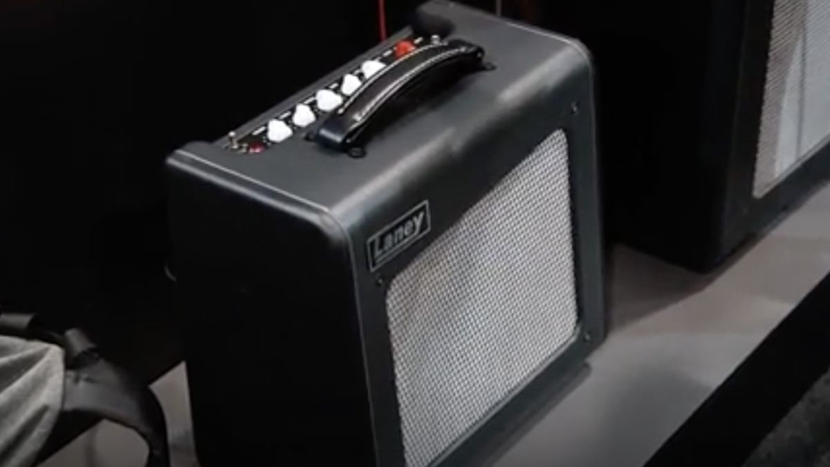 NAMM 2020 VIDEO: New Laney MiniStacks, powered LFR cab and Black Country Customs Spiral Array multi-chorus on the way