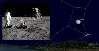 apollo 11 moon sky