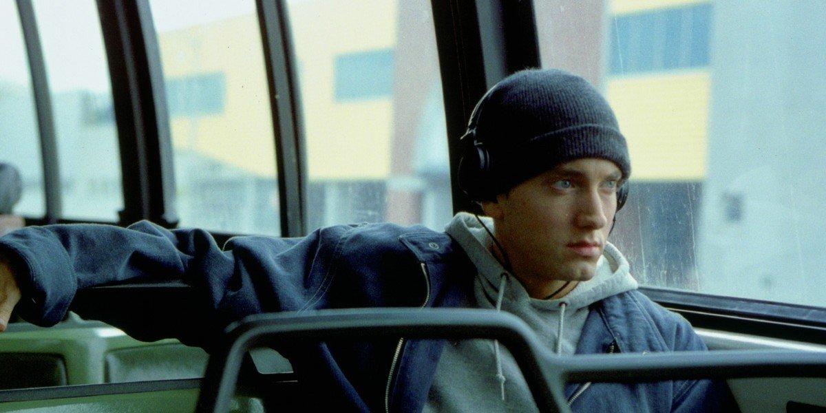 Eminem on a bus