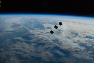 Tiny Cubesat Satellites Launched in Space